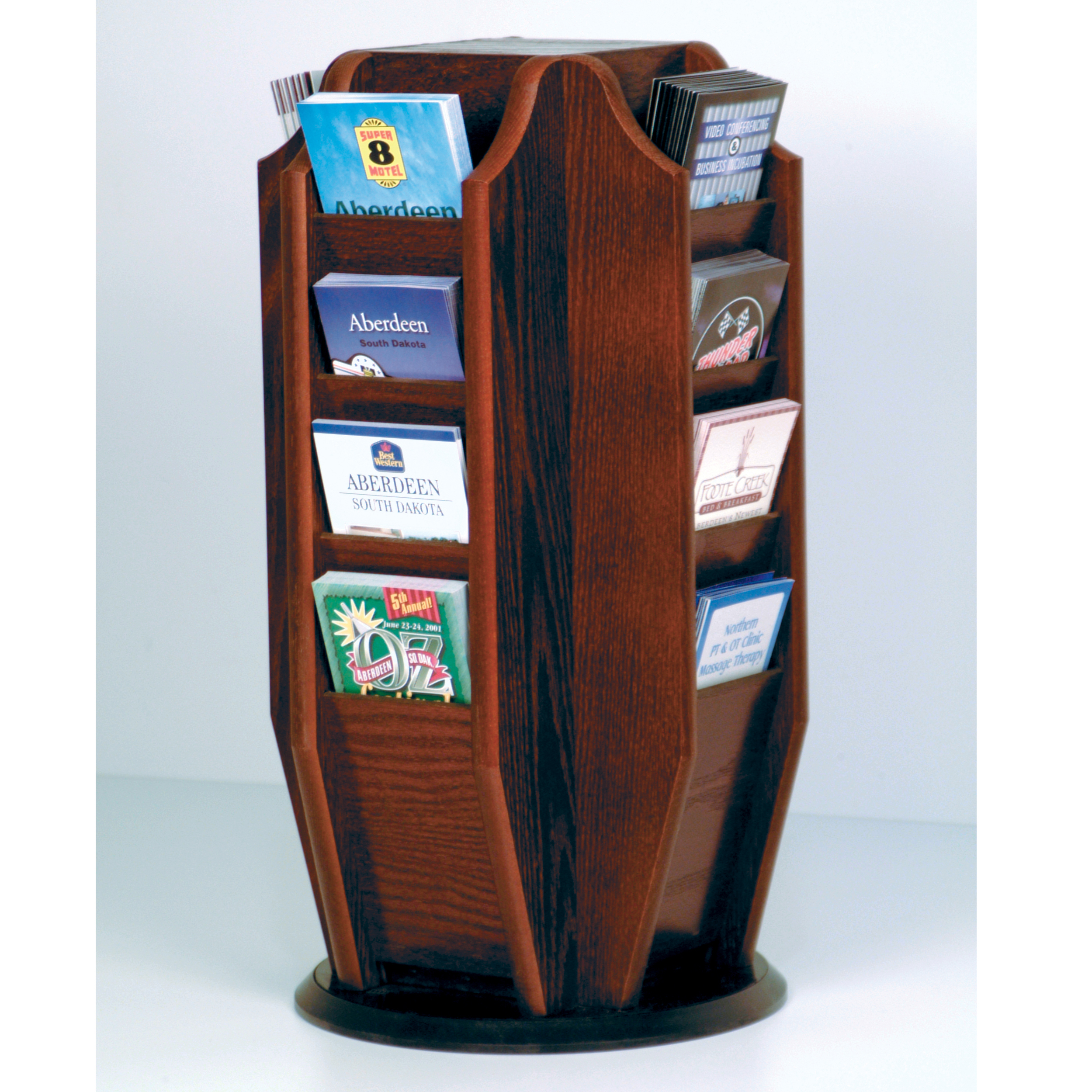 Wooden Mallet Rotating Literature Displays
