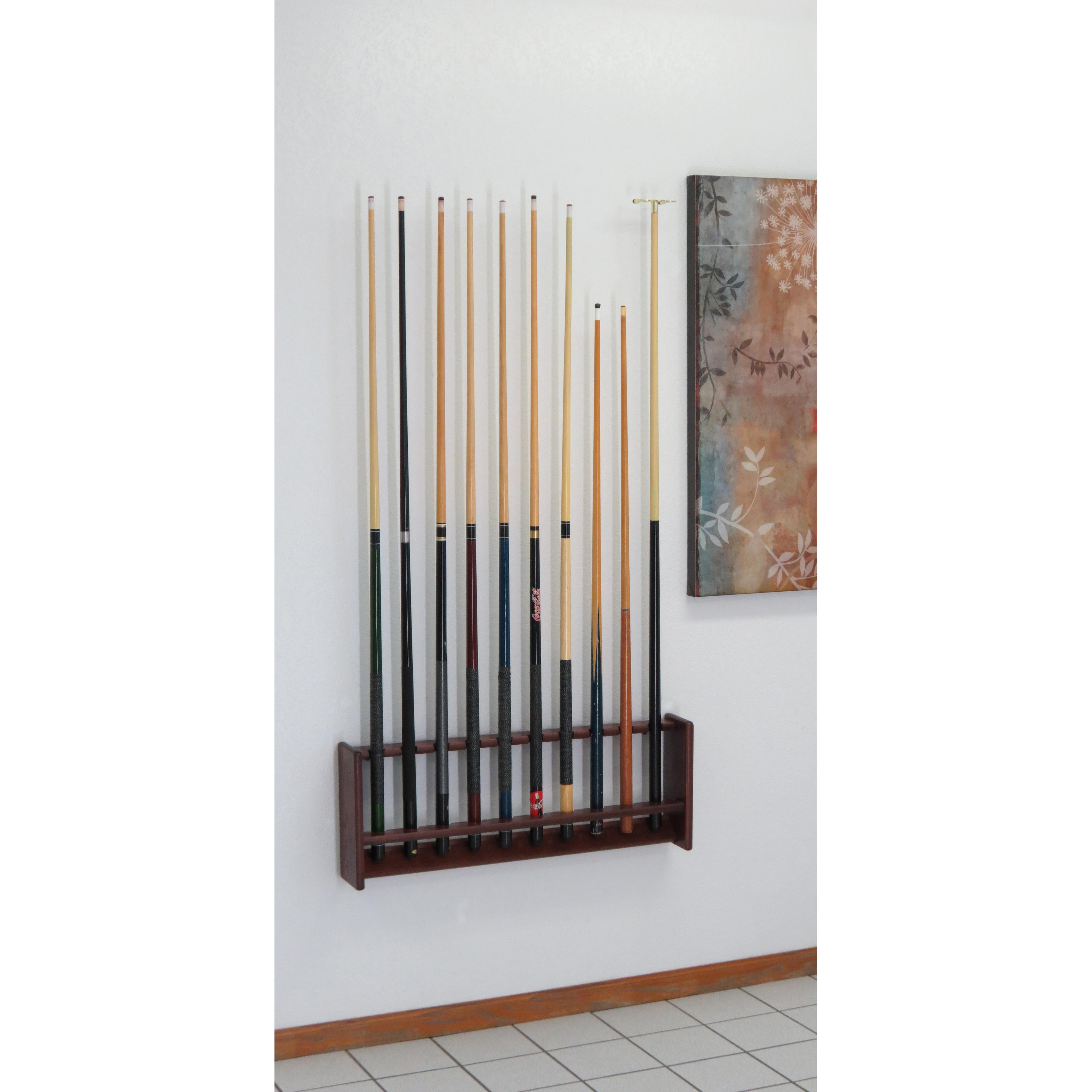Wooden Mallet Oak Pool Cue Racks