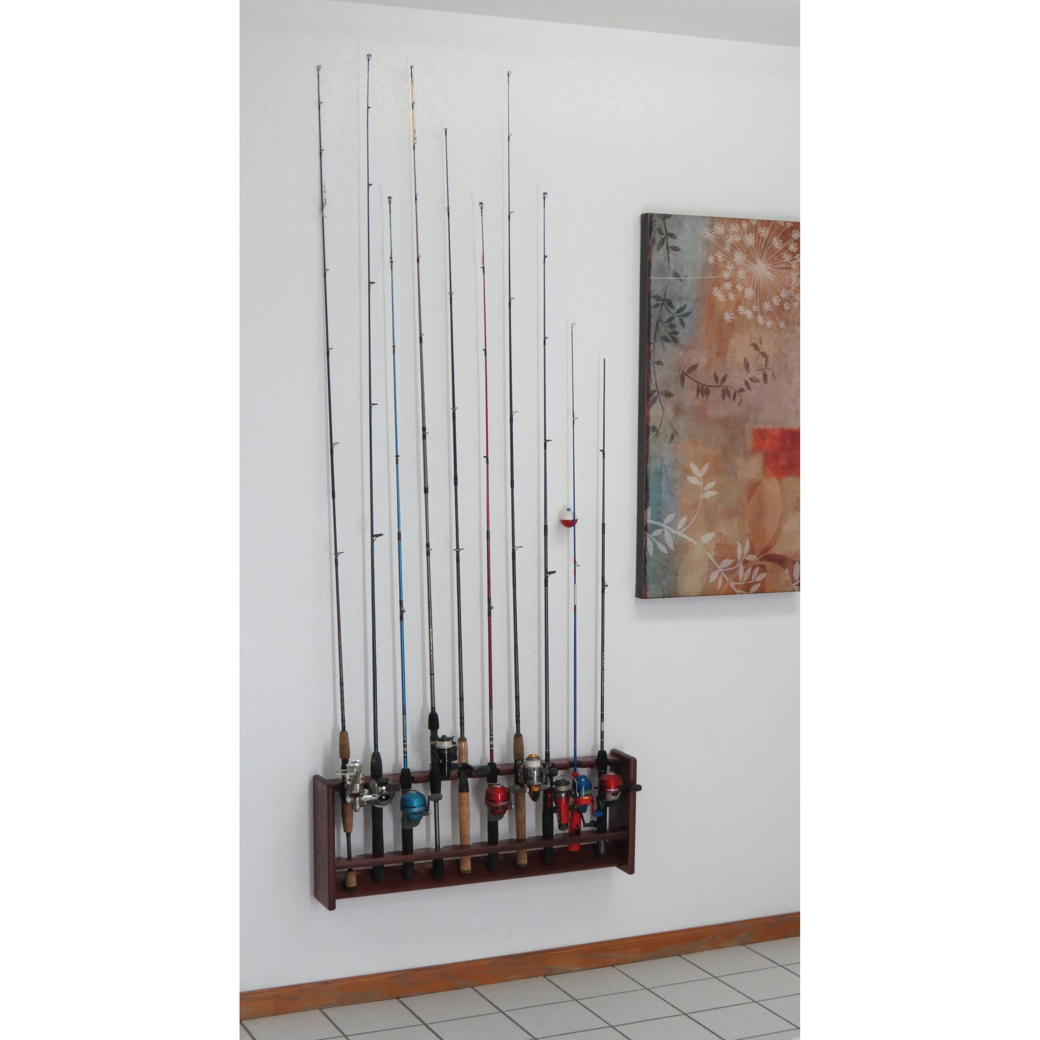 Wooden Mallet Oak Fishing Rod Racks